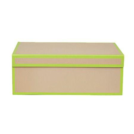Vegas Storage Box Lime Green 32cm x 22cm x 12cm