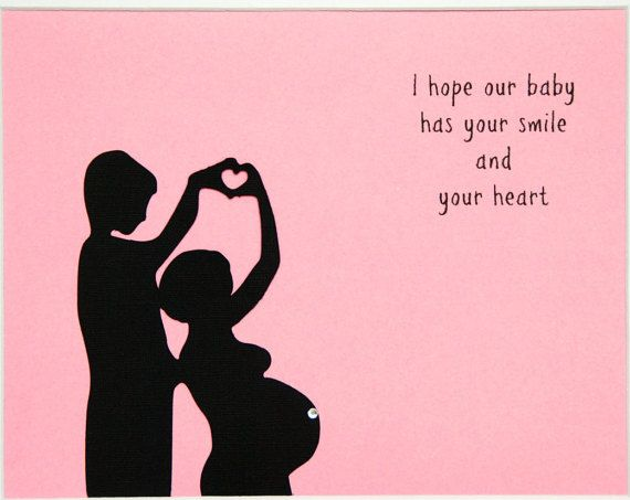 A hand-made silhouette card to prepare and celebrate the expecting Father. A sweet way to tell your spouse or partner he is going to be a Father. Send your partner this special card during your pregnancy to share your love and excitement about being a family. Card is blank for your note inside. This is a special and unique keepsake for any expectant dad, and makes a wonderful gift from a spouse or partner, parent or grandparent. The front of the cards are hand-cut silhouette of Daddy and…
