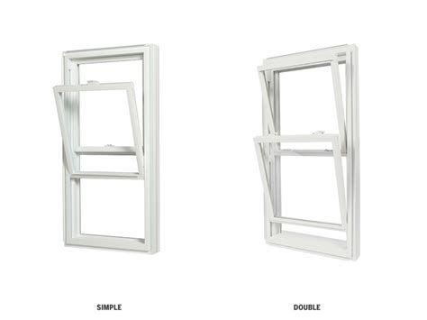 Fenêtre à guillotine simple et double - PVC blanc ...   Fenêtre à guillotine, Fenetre, Fenêtres ...