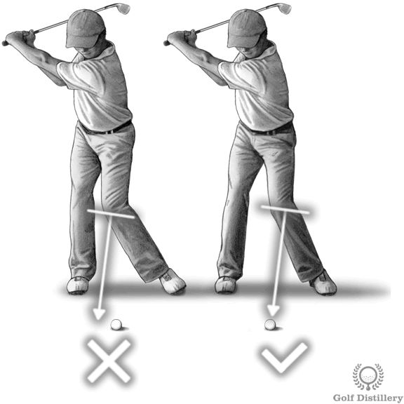 Move left knee towards the ball swing thought