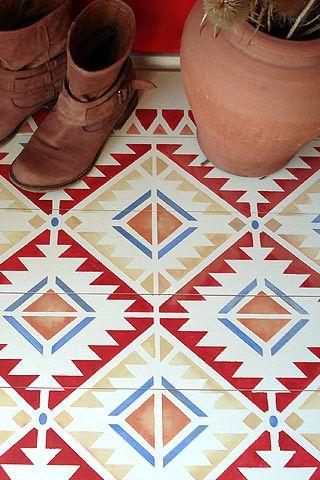 Navajo and Mexicana Stencils from Henny Donovan Motif