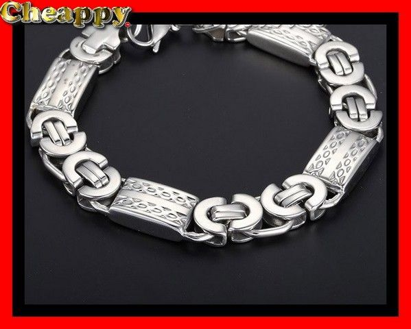Mooie Byzantijnse armband zilverkleurig 11mm - Cheappy