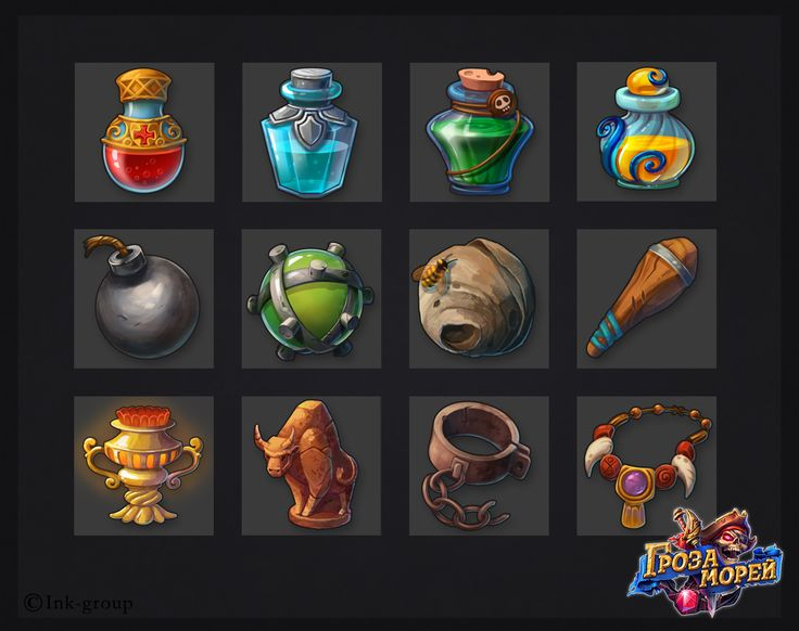 Icons and Items for Pirates game on Behance