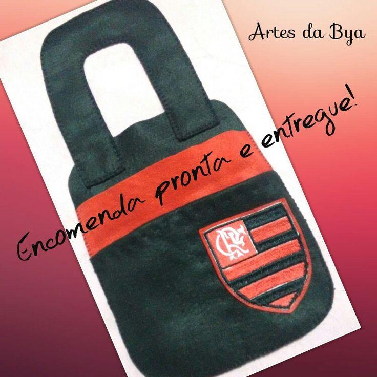 Lixeira para carro de feltro!  Flamengo!