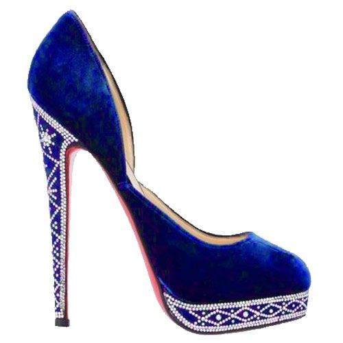Christian Louboutin: Christian Louboutin Shoes, Royal Blue, Something Blue, High Heels, Blue Suede, Blue Pumps, Shoes Shoes, Suede Pump, Christianlouboutin