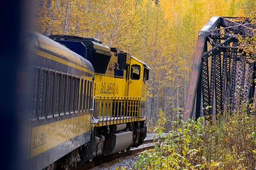 Alaska train ride fairbanks to anchorage