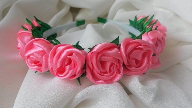 Hair hoop Wrap hair with flowers,  обруч для волос с яркими цветами