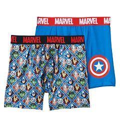 Boys Marvel Comics Captain America 2-Pack Boxer Briefs