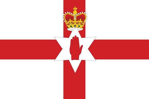 Vector of Northern Ireland flag.