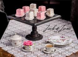 Fekete antikolt tortatál - BLACK WOOD  | Jack&Jane tortaállványok