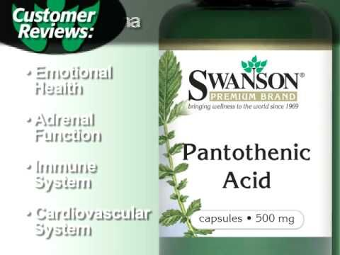 Swanson Premium Pantothenic Acid (Vitamin B-5) 500 mg 250 Caps - Swanson Health Products