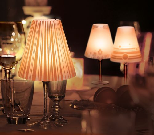 Lampshade Wine Glass The Lampshades Top Off A Simple Wine Glass To Make An  Easy Votive Centerpiece For Any Occasion