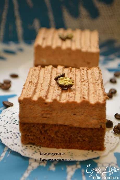 Шоколадно муссовое пирожное