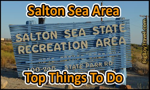 Salton Sea Area Top Things to Do in California. We cover how to get to the Salton Sea, where is it, hiking in the imperial sand dunes, visiting oasis, date farms near the Salton Sea and Salvation Mountain tours.