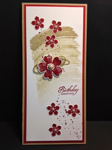 Work of Ar, Gorgeous Grunge, Flower Shop, Petite Petals, Stampin' Up!, Rubber Stamping, Handmade Cards