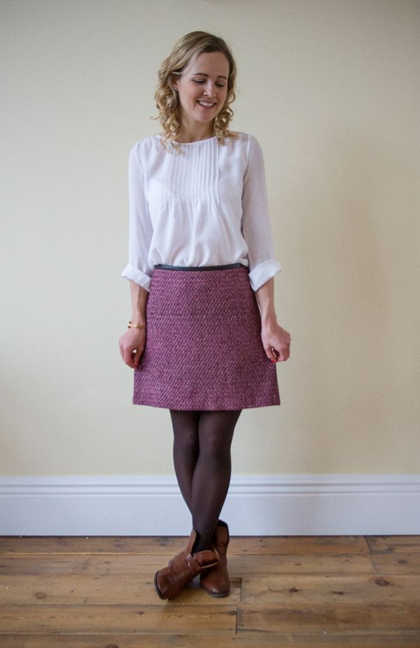 Great British Sewing Bee Tweed Mini Skirt Blog: Sewing Projects | Guthrie & Ghani