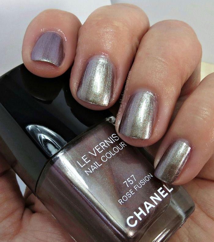 Chanel Rose Fusion Le Vernis Nail Polish Swatches Bloggers We Love Pinterest Polish Nails