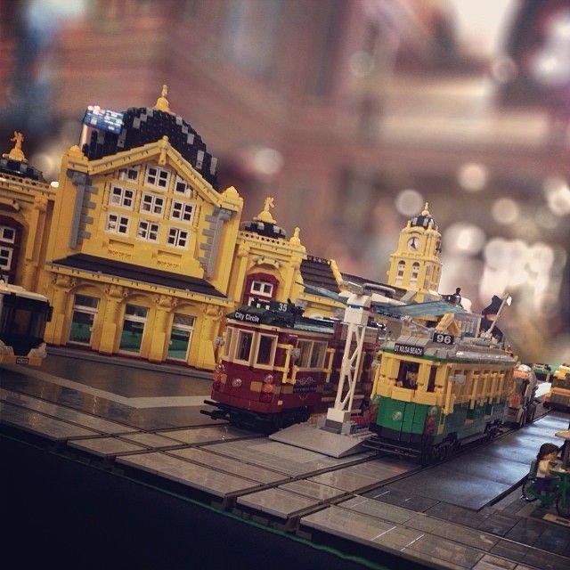 Flinders St Station done in Lego