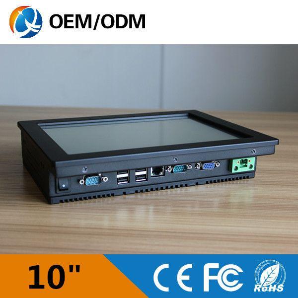 Intel atom n2600 1.6 ghz computer 10 inch touchscreen resolutio 800x600 industriële pc embedded mini pc 2 gb ram 32g ssd