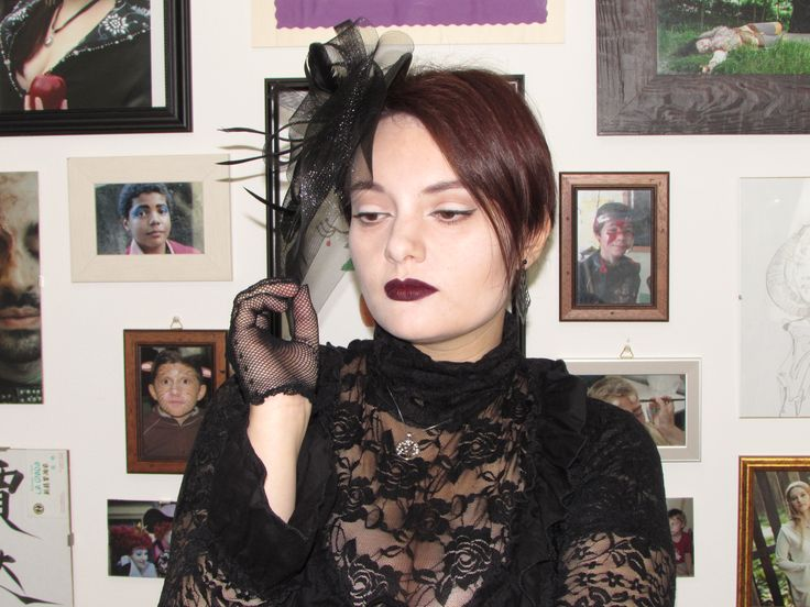 Goth make-up I made for a contest by Kryolan Italia. Ready for Halloween!  #halloween #goth #blacklace