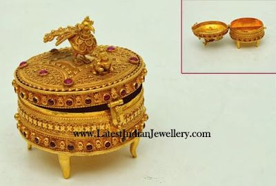 Gold Kumkum (Vermillion) Box