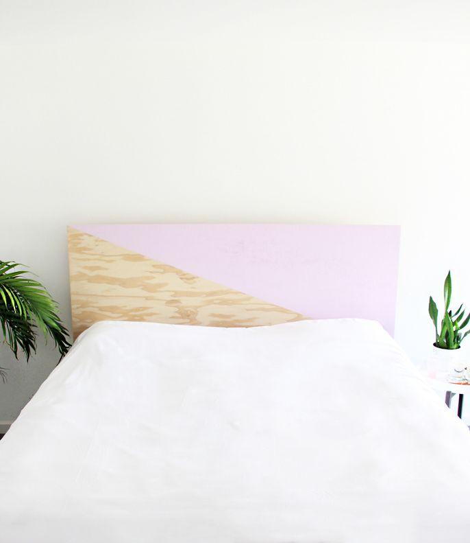A Bubbly Life: DIY How To Make a Painted Plywood Headboard
