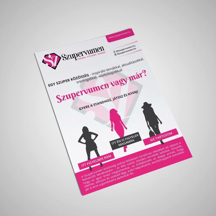 Ezt a szórólapot a Szupervumen számára készítettem. Nagyon hozzámillő, csajos, igazán pink-es munka volt.