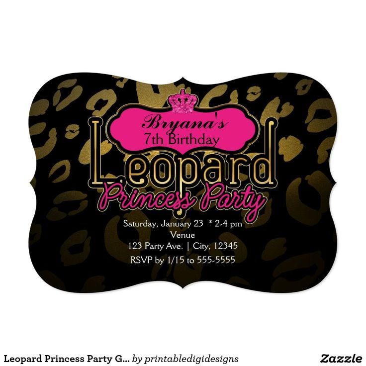 28 best Black & Gold Glam Chic Party Invitations images on Pinterest ...