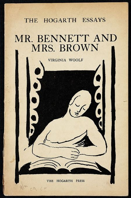 Virginia Woolf, Mr. Bennett and Mrs. Brown (1924) Cover design by Vanessa Bell