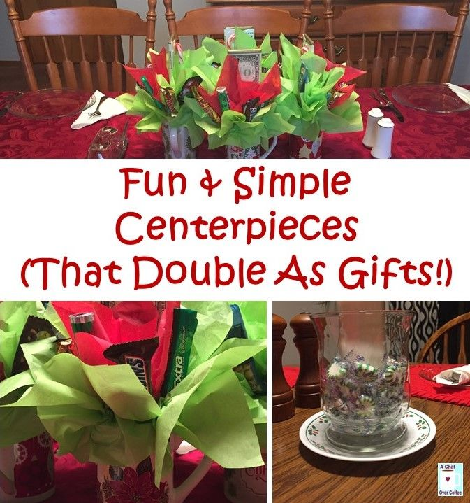How to make fun simple centerpieces that double as