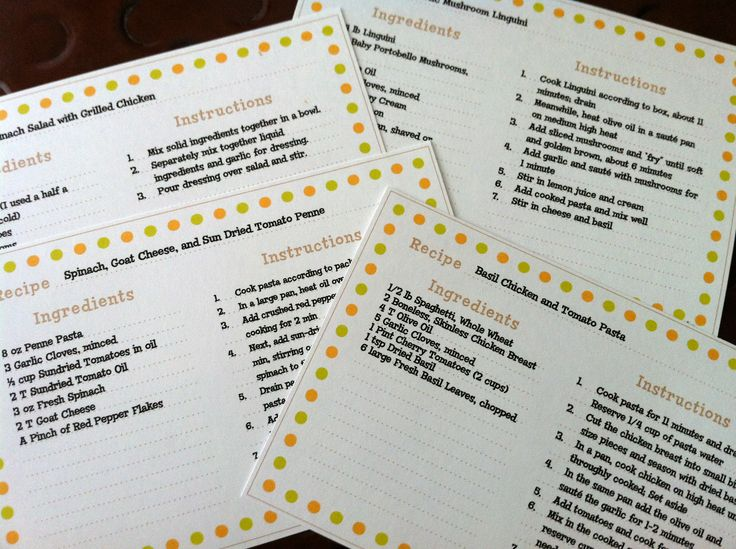 124 best recipe cards images on Pinterest Printable recipe cards - recipe card