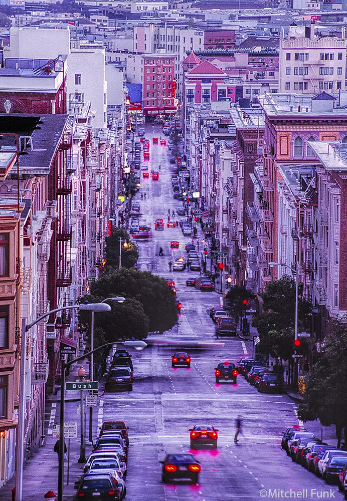 San Francisco Kaiser Map%0A Looking Down Jones Street Going Through The Tenderloin District  San  Francisco By Mitchell Funk mitchellfunk