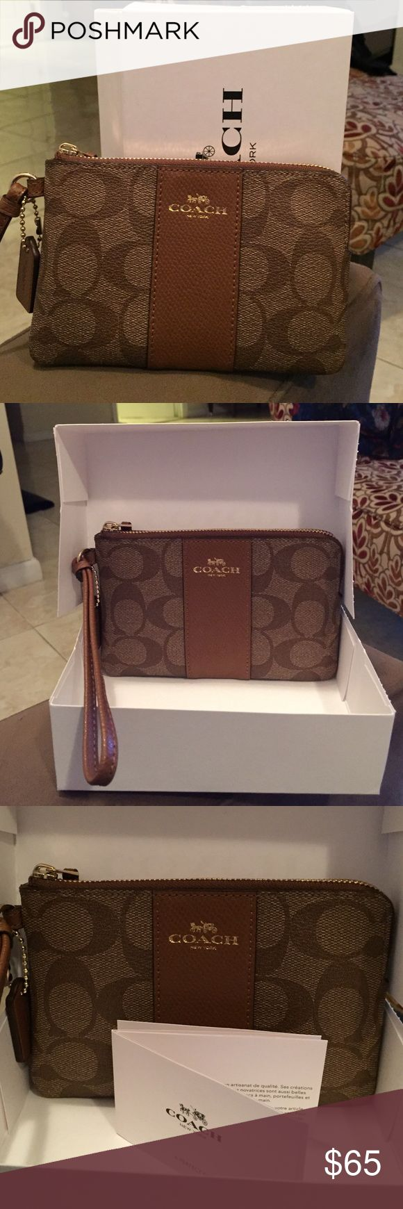 Coach wristlet New with tags (except price tag) Coach wristlet. Bags Clutches & Wristlets