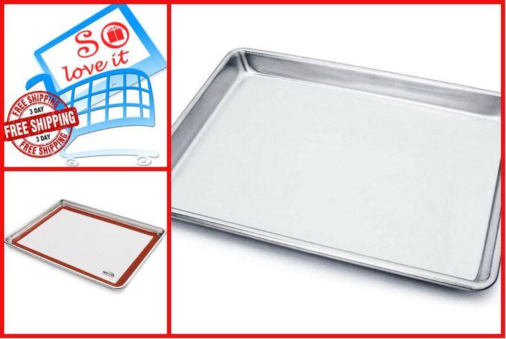Commercial grade aluminum sheet pan 9 x 13 x 1 inch