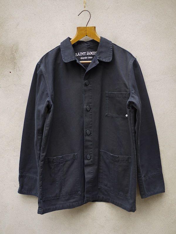 Cotton Drill Jacket (Navy)
