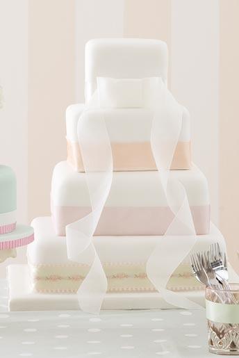 Wedding Magazine - Wedding Cakes - Contemporary Cakes - M four tier cake