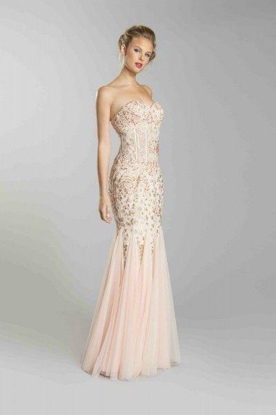 Tight mermaid prom dresses-1082