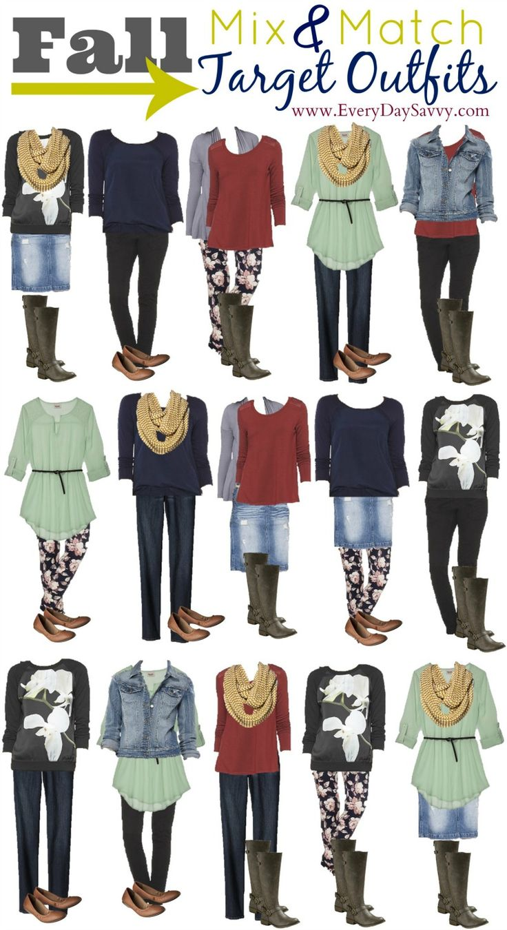 15 Fall Mix and Match Outfits From Target