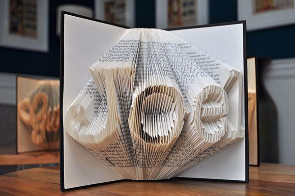 close up of book sculpture