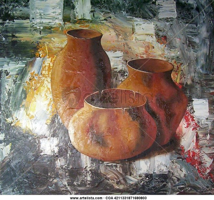 cuadros al oleo de vasijas | cacharros III Maria Gabriela Costa - Artelista.com