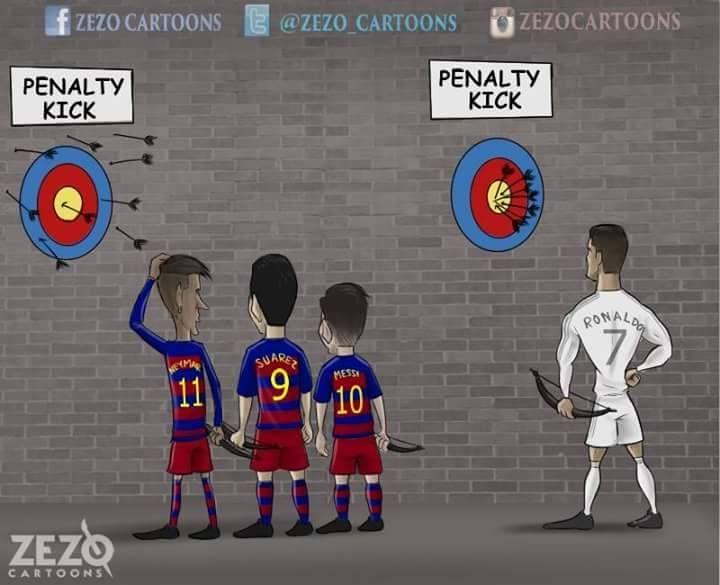 MSN VS Ronaldo ( Penalty kick )