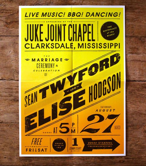 BLUES ROCK WEDDING INVITES - Holy CRAP, if I ever do have a wedding I may have to steal this idea.  This is awesome.