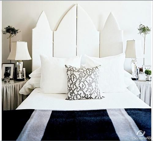 Cool Headboard Ideas. Using carved or stenciled gothic screen would be prettier