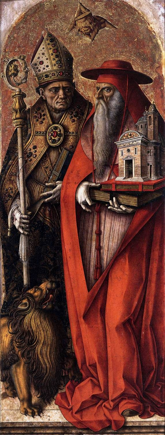 St Jerome and St Augustine by Carlo Crivelli