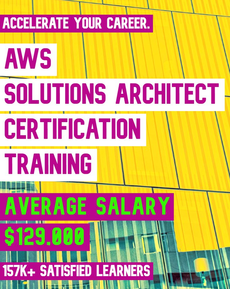 Aws solutions architect certification training learn
