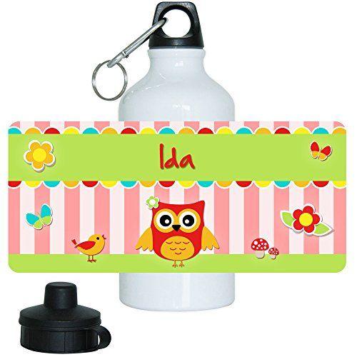 Aus der Kategorie Brotdosen & Wasserflaschen  gibt es, zum Preis von EUR 12,99  <b>Details zum Produkt:</b><br> Sehr schöne Trinkflasche aus Aluminium mit Eulen-Motiv für Mädchen. Perfekt geeignet als Grundausstattung für Kindergarten, Schule und Freizeit. <br> Die Alu Trinkflasche eignet sich ideal als Geschenk für Kindergartenkinder, für Schulanfänger oder zum Kindergeburtstag.<br> Durch die Individualisierung, <b>mit dem oben abgebildeten Vornamen</b>,ist eine Verwechslung…