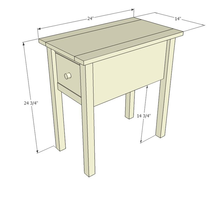 Ana White | Build a Narrow Cottage End Tables | Free and Easy DIY Project and Furniture Plans