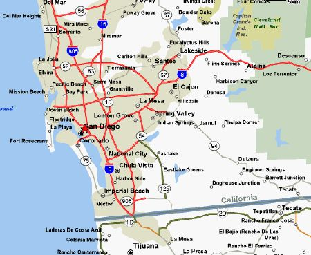 A Map Of San Diego County San Diego California Favorite Places
