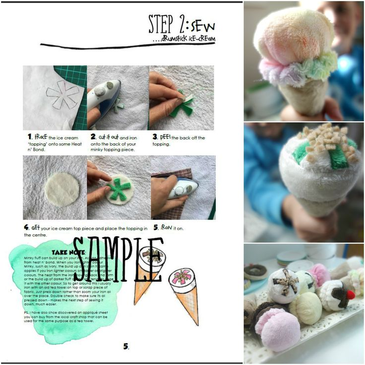 Ice Cream Cone Drumsticks Play Food Sewing Pattern