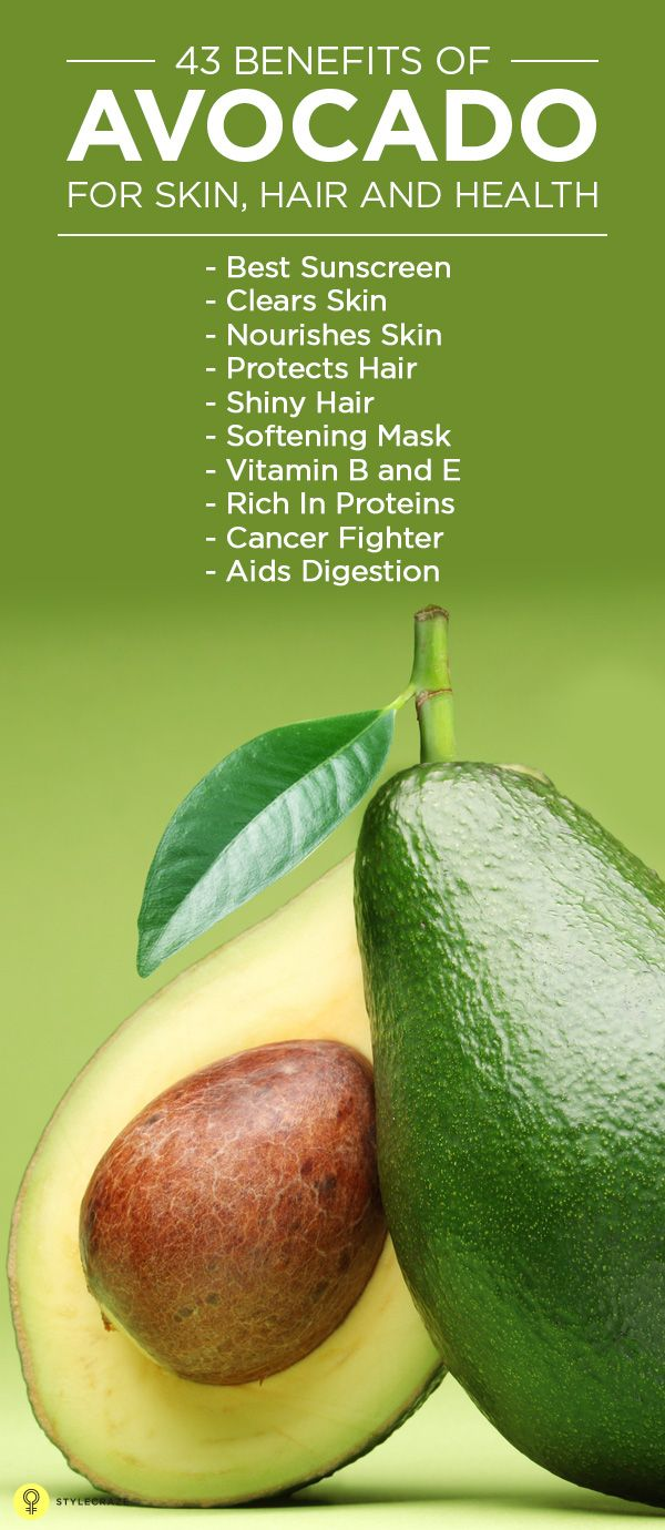Avocado for skin health